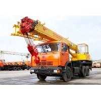 Аренда автокрана 25 тонн 22 метра Камаз