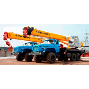 Аренда автокрана вездеход УРАЛ 25 тонн 22 метра