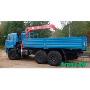 Аренда манипулятора вездеход Камаз КМУ 3 т грузоподъемность 10 тонн