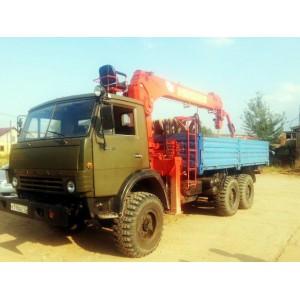 Аренда манипулятора 3 тонны КАМАЗ (вездеход) Александров