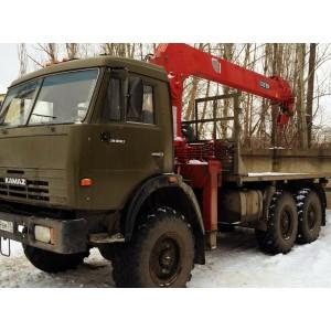 Аренда манипулятора КАМАЗ (вездеход) 7 тонн Мытищи